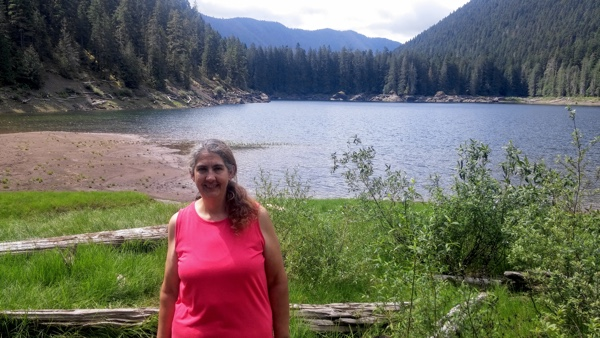 Me with Lena Lake in the background.