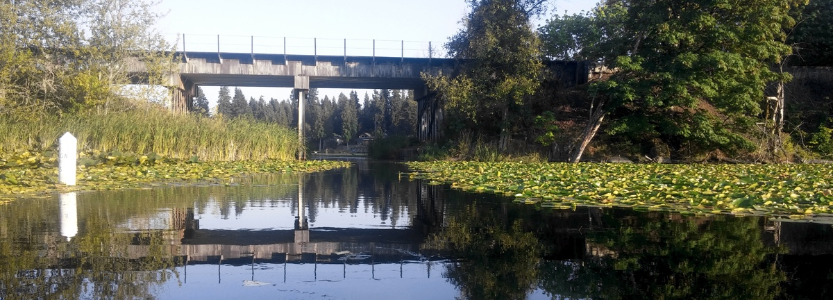 Railroad bridge over Pattison Lake