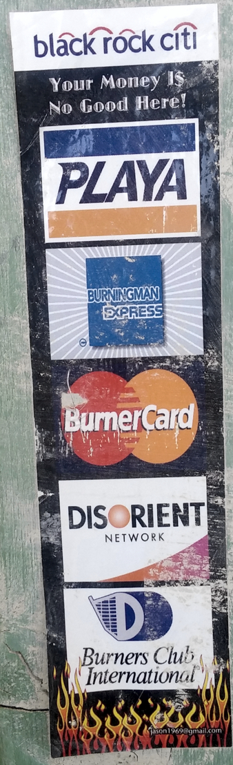 Credit cards not accepted.