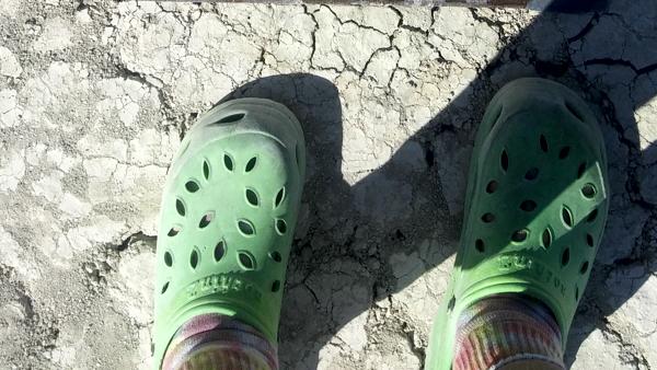 Crocs on the playa.