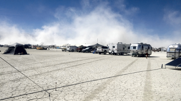 Dust storm over BRC, 2019