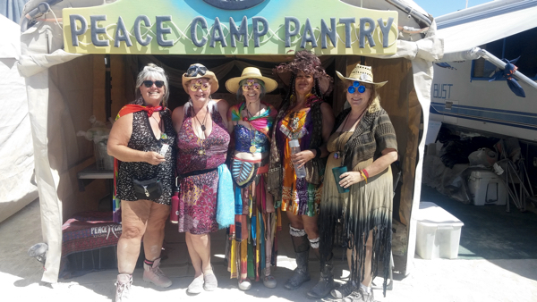 These fabulous women stopped by the Peace Camp Pantry.