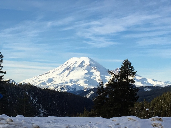 View of Mount Rainier from White Pass