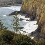The North Jetty, Waikiki Beach, and the Pacific Ocean crashing into the cliffs at Cape Disappointment State Park