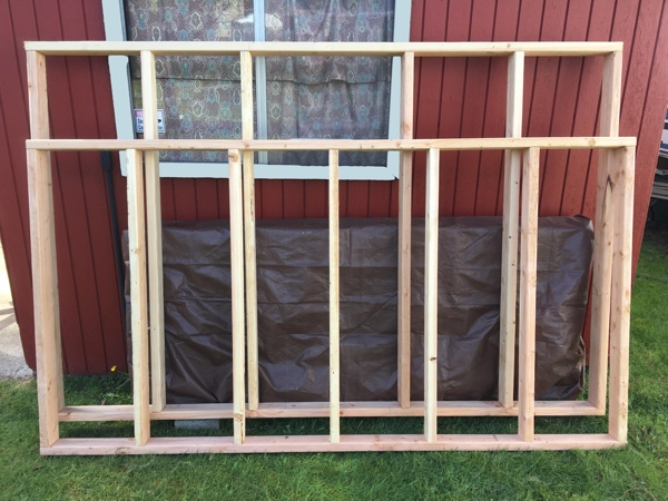 Front and back wall frames
