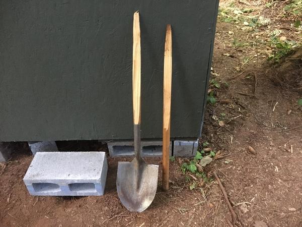 D'oh! Broken shovel